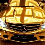 thumbs dubais gold mercedes c63 amg 01 Dubai's Gold Mercedes C63 AMG