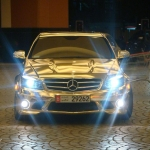 thumbs dubais gold mercedes c63 amg 02 Dubai's Gold Mercedes C63 AMG