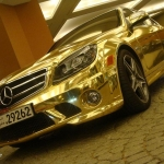 thumbs dubais gold mercedes c63 amg 03 Dubai's Gold Mercedes C63 AMG