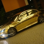 thumbs Dubai's Gold Mercedes C63 AMG pic_4355