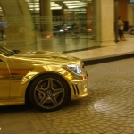 thumbs dubais gold mercedes c63 amg 05 Dubai's Gold Mercedes C63 AMG