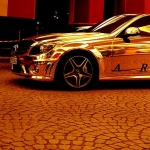 thumbs dubais gold mercedes c63 amg 08 Dubai's Gold Mercedes C63 AMG