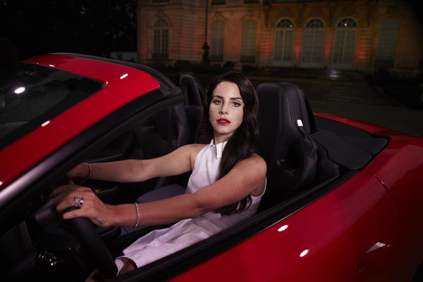 Lana Del Rey Jaguar F-Type