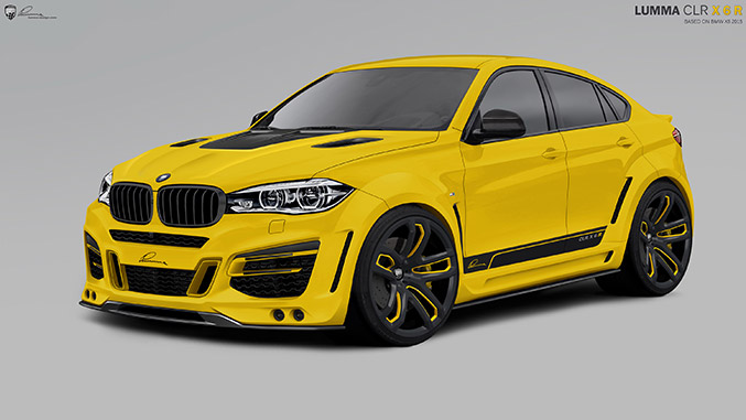 2015 Lumma Design BMW X6 Front Angle