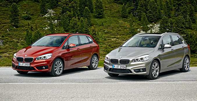 The New BMW 218d and 225i Active Tourer Front Angle