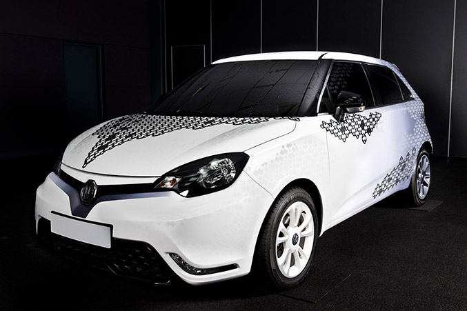 2014 MG MG3 Personalisation Design Concept Front Angle