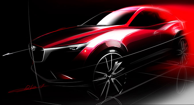 All-New Mazda CX-3 Design Sketch