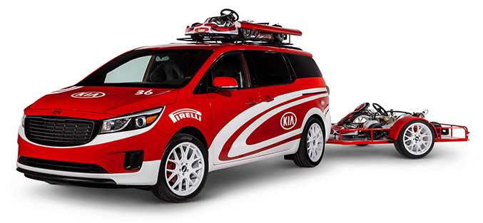 2015 Ultimate Karting Kia Sedona Front