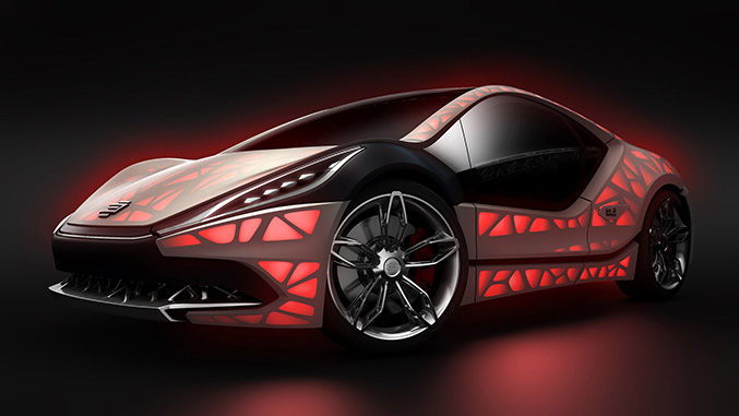 2015 EDAG Light Cocoon Concept Front Angle