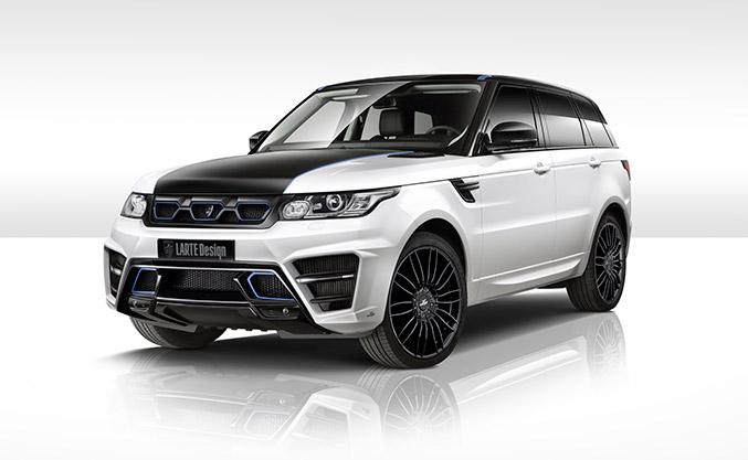 2015 LARTE Range Rover Sport Winner White Front Angle