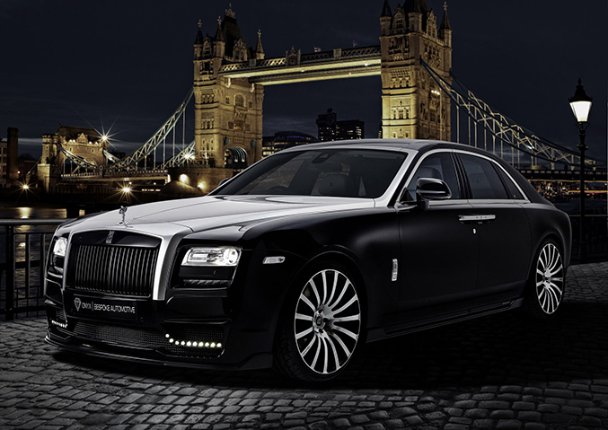 2015 Onyx Rolls-Royce Ghost San Mortiz Front Angle