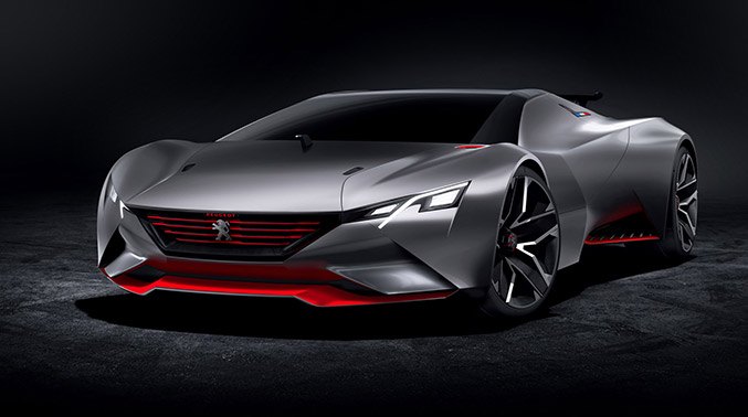 2015 Peugeot Vision Gran Turismo Concept Front Angle