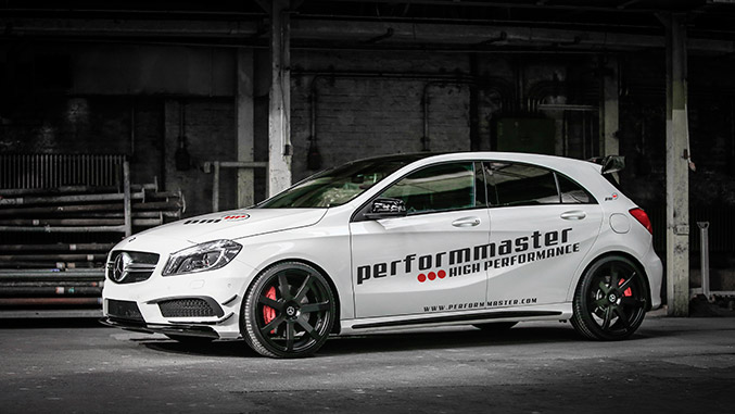 280 kph for the A 45, CLA 45 and GLA 45 AMG – with the PEC Vmax-Module