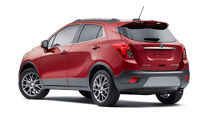 2016 Buick Encore Sport Touring Rear Angle