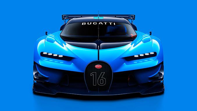 2015 Bugatti Vision Gran Turismo Concept Front Angle
