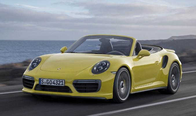 2016 Porsche 911 Turbo S Front Angle