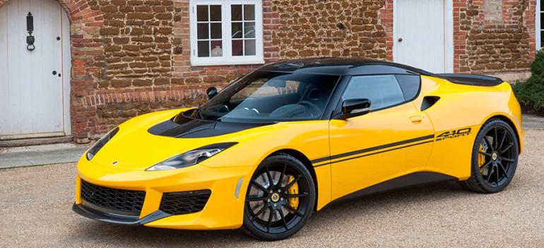 2016 Lotus Evora Sport 410 Front Angle