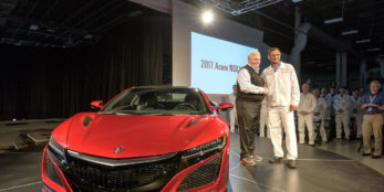 thumbnail First serial production 2017 Acura NSX rolls off the line at performance manufacturing center in ohio