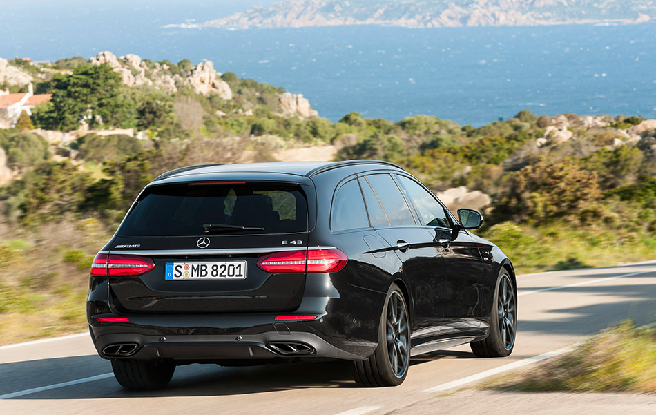 2016 Mercedes-AMG E43 4MATIC Estate Rear Angle