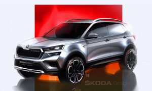 thumbnail SKODA Kushaq: Design sketches offer a preview of the new SUV for the Indian market