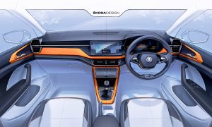 thumbnail Interior sketch offers first preview of the SKODA Kushaq