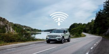 thumbnail Volvo Cars initiates first ever over-the-air software update on XC40 Recharge