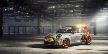 thumbnail The MINI Electric Pacesetter inspired by John Cooper Works. The first electric MINI as a FIA Formula E Safety Car