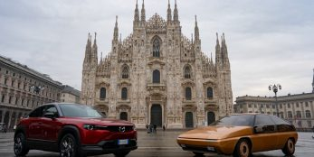 thumbnail Mazda's first MX model restored to celebrate the history of Italian design influence at Mazda