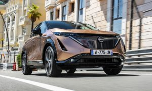 thumbnail All-electric Nissan Ariya takes to the famous Monaco street circuit for its public driving debut
