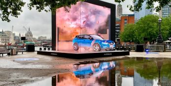 thumbnail Nissan breaks through fourth wall on London's Southbank for launch of the all-new and electrified Nissan Qashqai