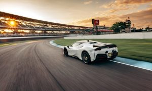 thumbnail Ferrari SF90 Stradale sets production car lap record at Indianapolis Motor Speedway