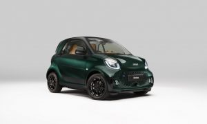 thumbnail smart reveals BRABUS-finished EQ fortwo coupé Racing Green Edition